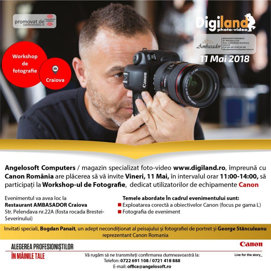 WORKSHOP FOTOGRAFIE CRAIOVA | RESTAURANT NUNTA, BOTEZ, CORPORATE, EVENIMENTE CRAIOVA | AMBASADOR CENTER CRAIOVA