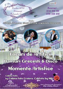 Divertisment Revelion 2019 Salon Crystal Restaurant Ambasador Center Craiova Revelion Craiova 2019