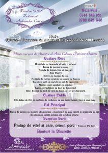 Meniu Revelion 2019 Salon Crystal Restaurant Ambasador Craiova