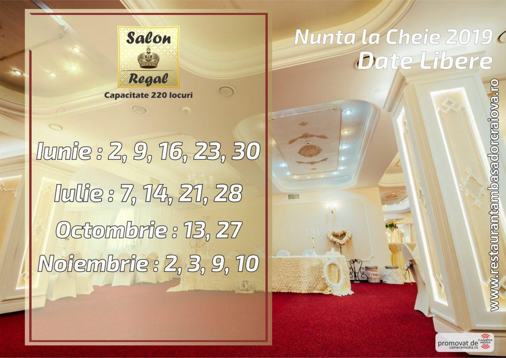 Date Libere 2019 | Restaurant Nunta Craiova | Restaurant Ambasador Craiova 2019 | Salon Regal Restaurant Ambasador Craiova | Laurentiu Nica - Wedding Photographer