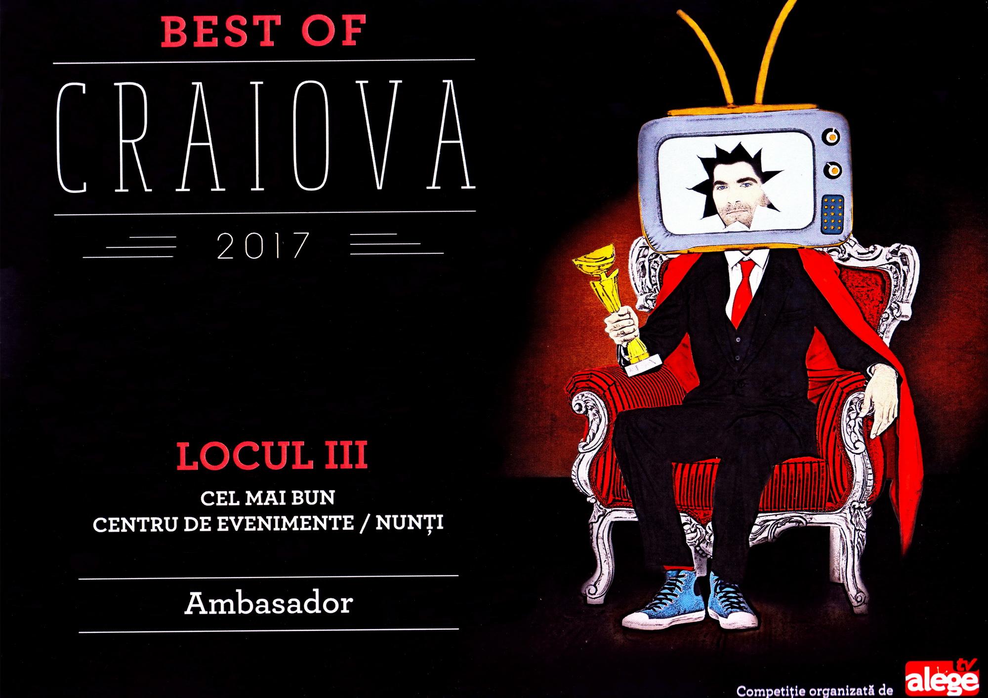 Best of Craiova 2017 | Restaurant Nunta Craiova | Restaurant Ambasador Craiova